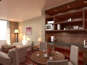 Hotel apartmanszoba, konyha l�tv�nyterve
