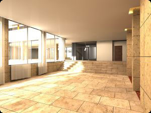 Hotel in Zalakaros, architectural visualization